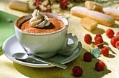 Tiramisu in tazza (mascarpone dessert in cup, Italy)