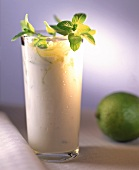 Yoghurt drink with limes