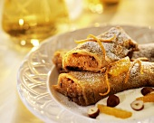 Austrian filled pancakes with nut filling