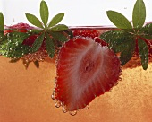 Close up of Strawberry Fruit Juice