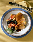 Mecklenburg roast goose with prunes & apples