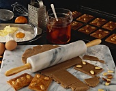 Making gingerbread for Christmas