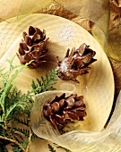 Marzipan and almond cones