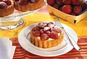 Strawberry tartlet with vanilla cream