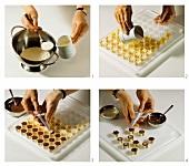 Making chocolates (yoghurt chocolates)