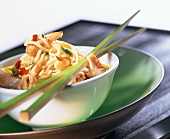 Fried Asian noodles with chicken breast fillet