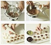 Making chocolate (butter chocolate truffles)