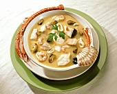 Fish soup with various fish and shellfish