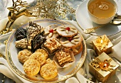 Christmas biscuits & small cakes, with tea