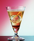 Champagne cocktail with cognac and Cointreau