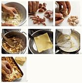 Preparing lasagne al forno