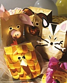 Paper animal masks for children's party