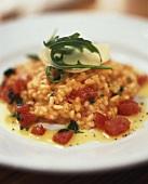 Cajun tomato risotto