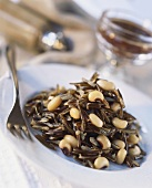 Wild rice with white beans
