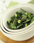 Green vegetables in a bowl
