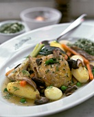 Chicken with mushrooms & vegetables from the oven