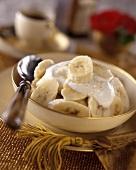 Bananas with yoghurt and Cointreau sauce