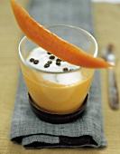 Mango and papaya lassis