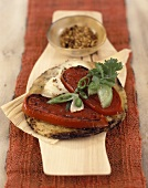 Tortilla gratin with grilled tomatoes & salsa picante