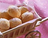 Snowballs (puff pastry balls with sugar)
