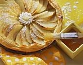 Quick puff pastry apple tart