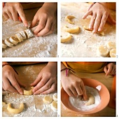 Making vanilla crescents