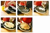 Baking waffles
