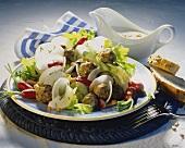 Radish salad with herbed pork balls