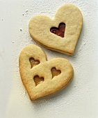Heart-shaped biscuits with hearts for wedding
