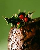 Christmas pudding (close-up)