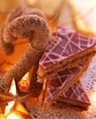 Cinnamon walking sticks & Linzer triangles for Christmas