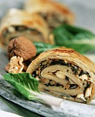 Boerek (Turkish pasties) with chard and walnuts