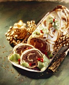 Buche au chocolat in meringue