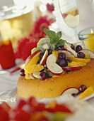 Savarin with fruit