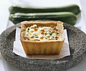 Courgette, carrot and mozzarella tart