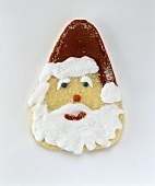 Baked Father Christmas face with coloured icing