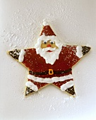 Father Christmas as star with coloured icing