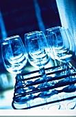 Several Empty Wine Glasses