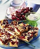 Tray-baked cherry yeast cake