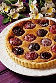 Plum tart with spices
