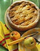 Apple pie with cider