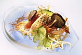Chinese glass noodle salad with shiitake & turkey breast fillet