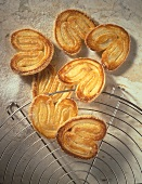 """Pig's ears"" in quark puff pastry"
