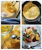 Fritierte Crepe-Täschchen zubereiten