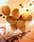 Christmas Cookies with Cinnamon Sticks