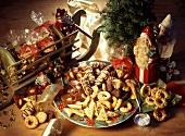 Various types of Christmas biscuits from Germany