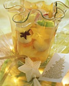 Tropical punch with coriander and lemon grass
