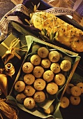 Christmas in Greece; turkey roll and spiced biscuits