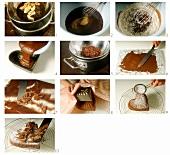 Making chocolate heart