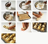 Making hot cross buns